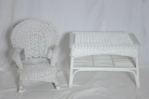 image of white table and chair