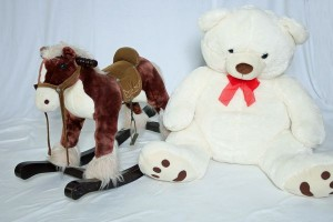 image of stuffed animals for photo props