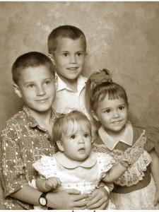 image of 4 children