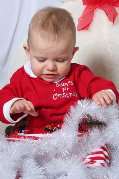 image of baby's 1st christmas