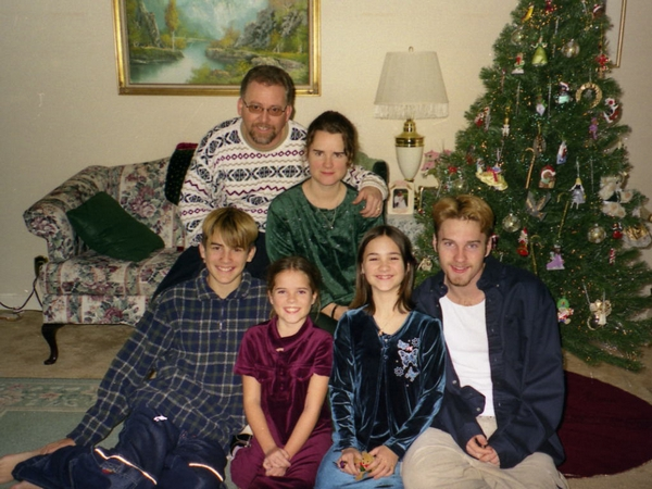 image of family at christmas