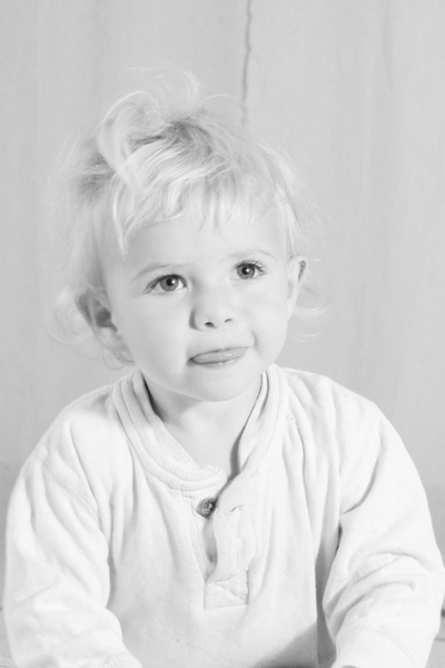 image of a child in black and white