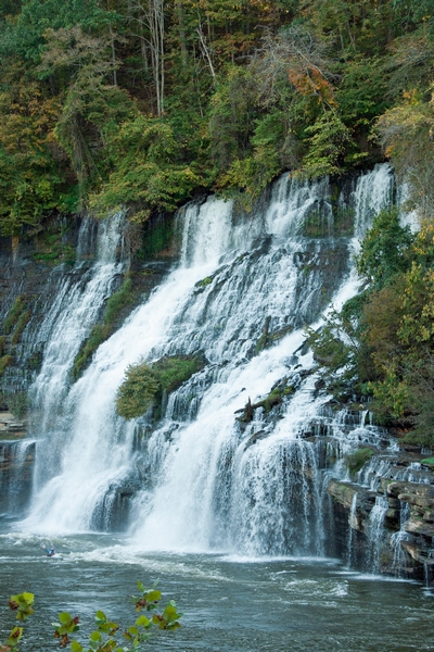 image of waterfalls at rock island park