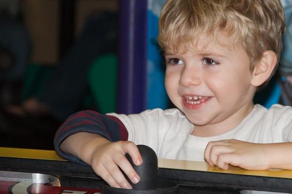image of boy playing game