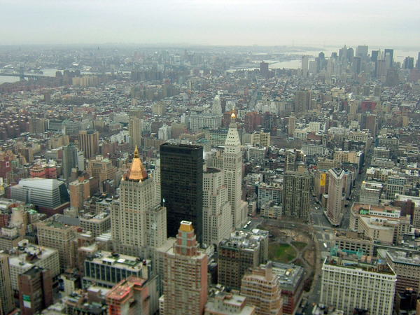 image of the view from empire state building