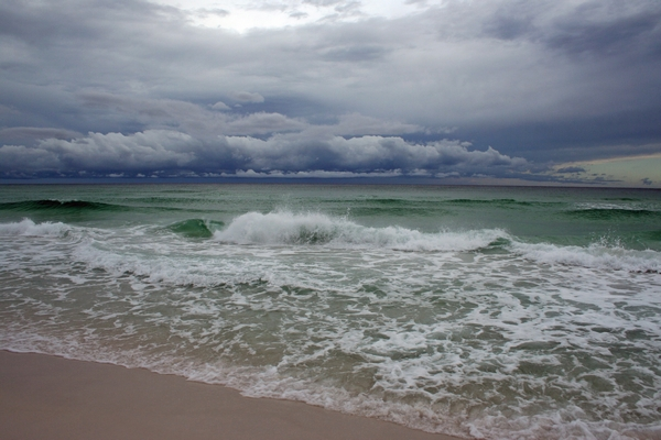 image of the beach before the storm