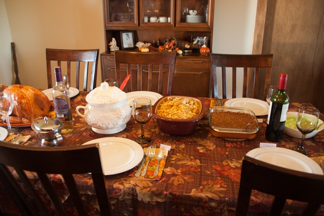 image of thanksgiving meal on the table