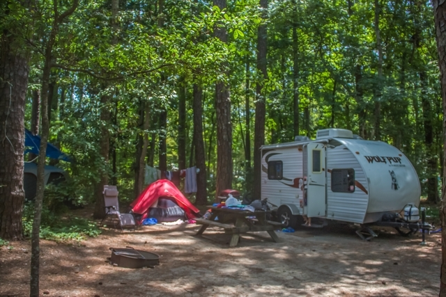 Camping With Family At Myrtle Beach State Park
